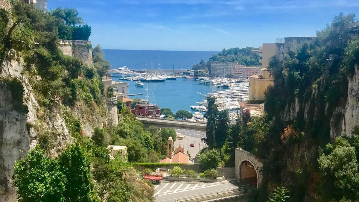 View in Monte Carlo, including landscape, skyline and sea.
